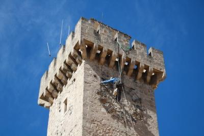 Restauración del reloj de la Torre de Mangana