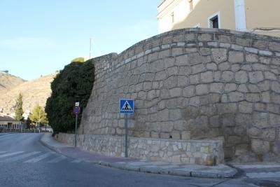 Reparación del muro del Hospital de Santiago
