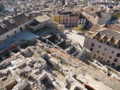 Excavación arqueológica en la calle del Alcázar