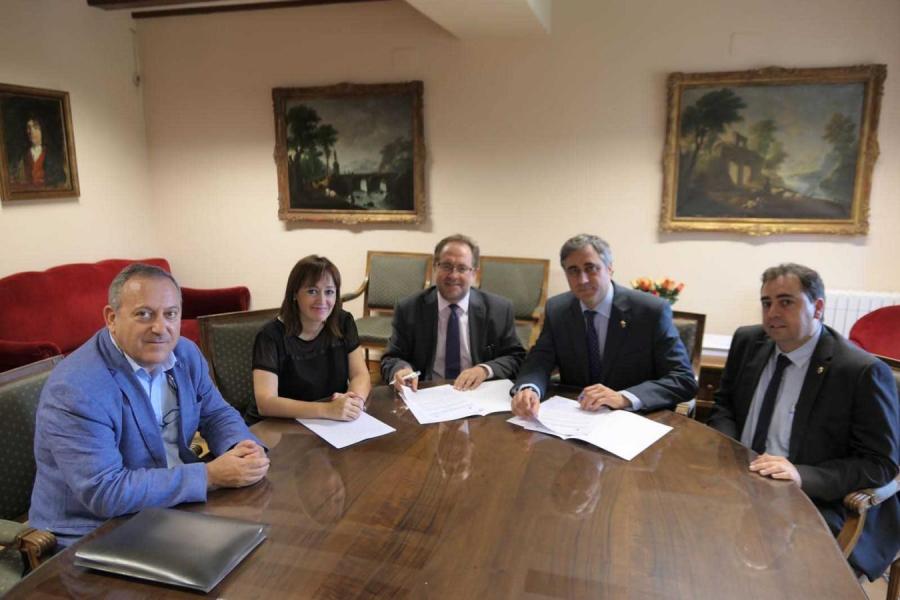 Formalizado el Convenio entre el Ayuntamiento y el Consorcio para la Rehabilitación de la Casa del Corregidor