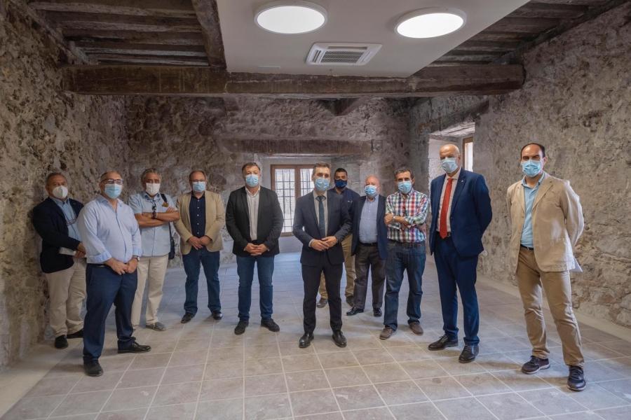 El Delegado del Gobierno en C-LM visita las obras de la Casa del Corregidor